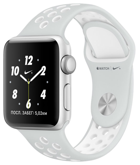 Apple Watch Nike+ 38mm - ремешок Nike цвета «чистая платина/белый»