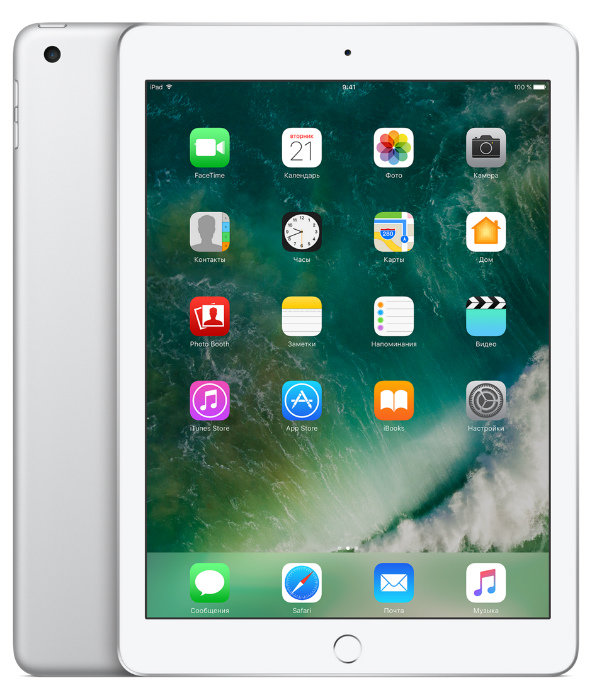 Apple iPad 9.7 (2017) 128Gb Wi-Fi Silver (Серебристый)