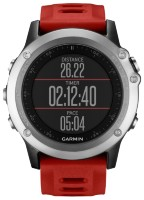 Garmin Fenix 3 Silver (Red) + VARIA Rearview Radar Bundle