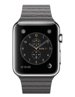 Apple Watch 42mm with Storm Gray Leather Loop (Кожаный ремешок цвета «грозовое небо») MMFX2