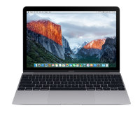 "Apple MacBook 12"" 2016 Space Gray MLH72 (Intel Core M3 1.1GHz - 8GB - 256GB - HD Graphics 515)"