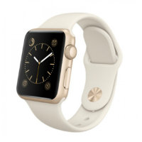 Apple Watch Sport 38mm Gold with Sport Band Antique White (Мраморно-белый спортивный ремешок) MLCJ2