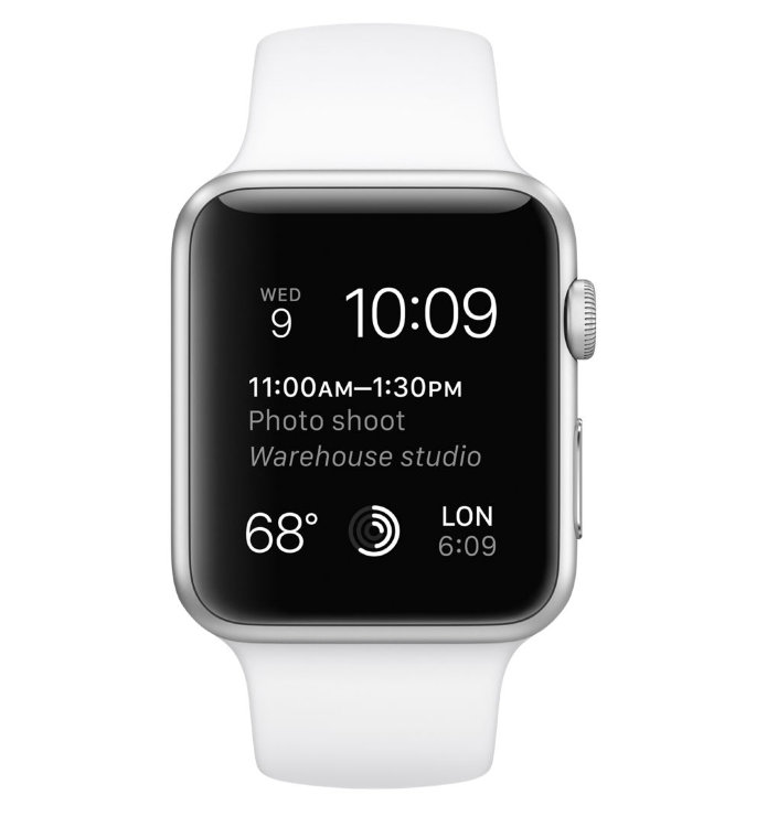Apple Watch Sport 42mm with Sport Band White (Белый спортивный ремешок) MJ3N2